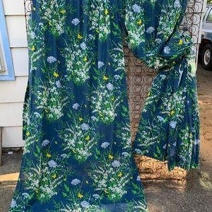 Vintage Accents - Vintage JC Penney floral long curtains